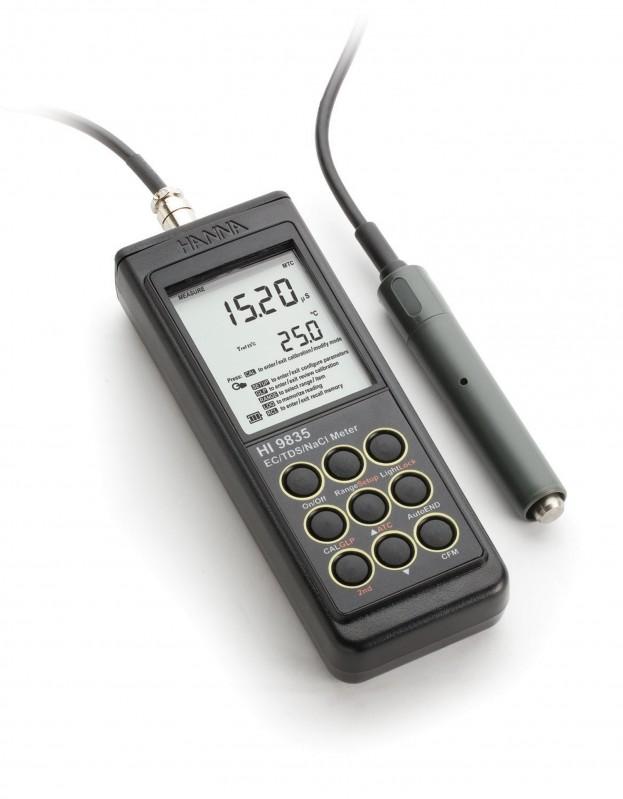 EC/TDS/NaCl/°C Portable Meter - HI9835