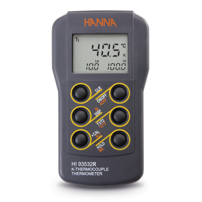 Dual Input K-Type Thermocouple Thermometer - HI93532R