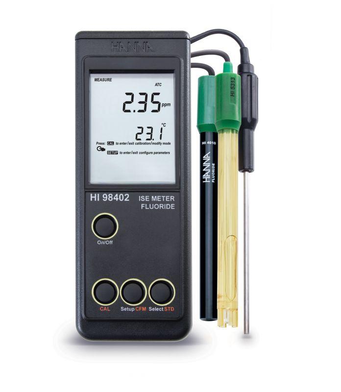 [:lt]Nešiojamas fluoro matuoklis - HI98402[:en]Fluoride Portable Meter - HI98402[:]
