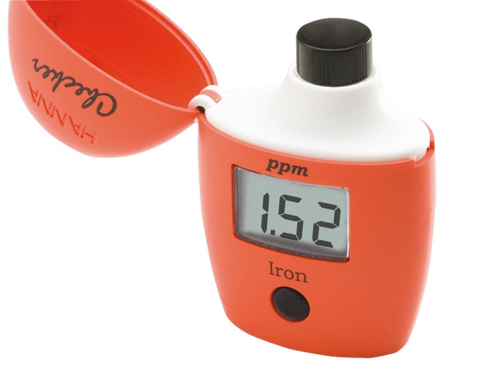 [:lt]Geležies nustatymui[:en]Iron Checker HC® colorimeter: Range   0.00 to 5.00 ppm (mg/L)[:]