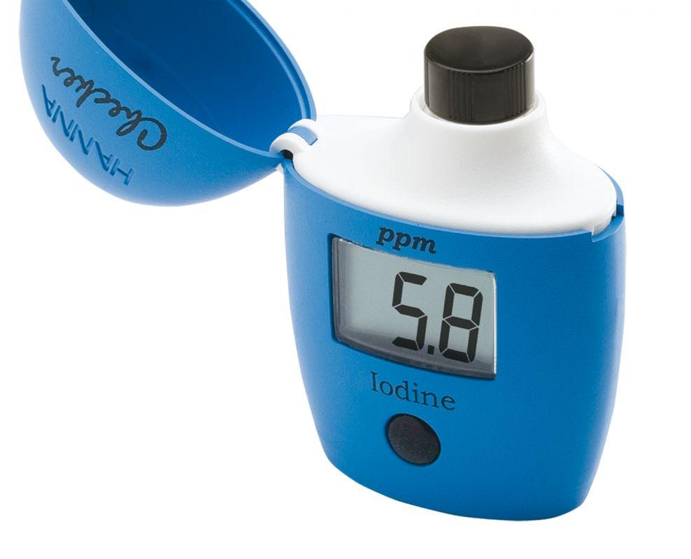 [:lt]Jodo nustatymui[:en]Iodine Checker HC® colorimeter: Range   00.0 to 12.5 ppm (mg/L)[:]