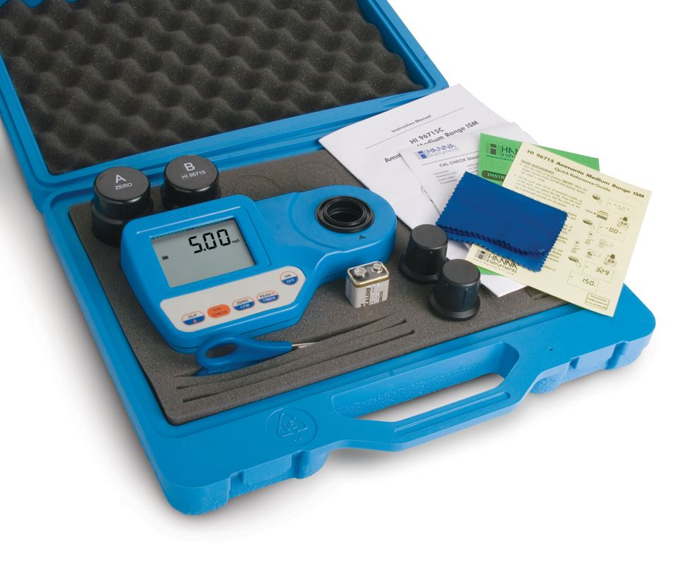 [:lt]Laisvo ir bendro chloro fotometras- HI96711C rinkinys[:en]Free and Total Chlorine Portable Photometer - HI96711C[:]