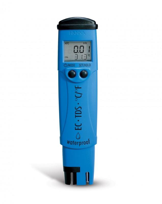 [:lt]DiST® 5 EC/TDS/Temp. testeris iki 3999 μS/cm[:en]DiST® 5 EC/TDS/Temperature tester; EC resolution: 1 µS/cm, TDS resolution: 1 mg/L (ppm) Range: 0 to 3999 μS/cm[:]
