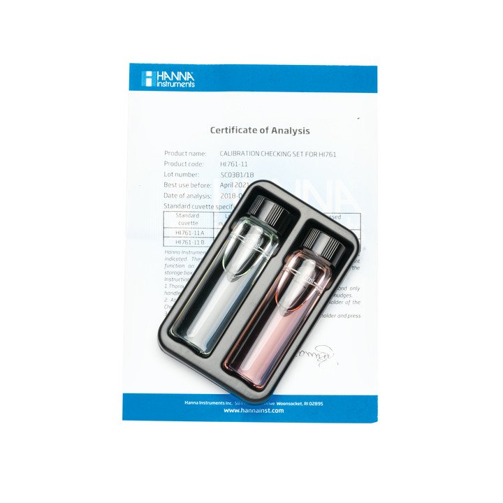 [:lt]Kalibravimo rinkinys HI 761 Checker HC ® delniniam matuokliui.[:en]otal Chlorine Ultra Low Range Checker®HC Calibration Check Set[:]