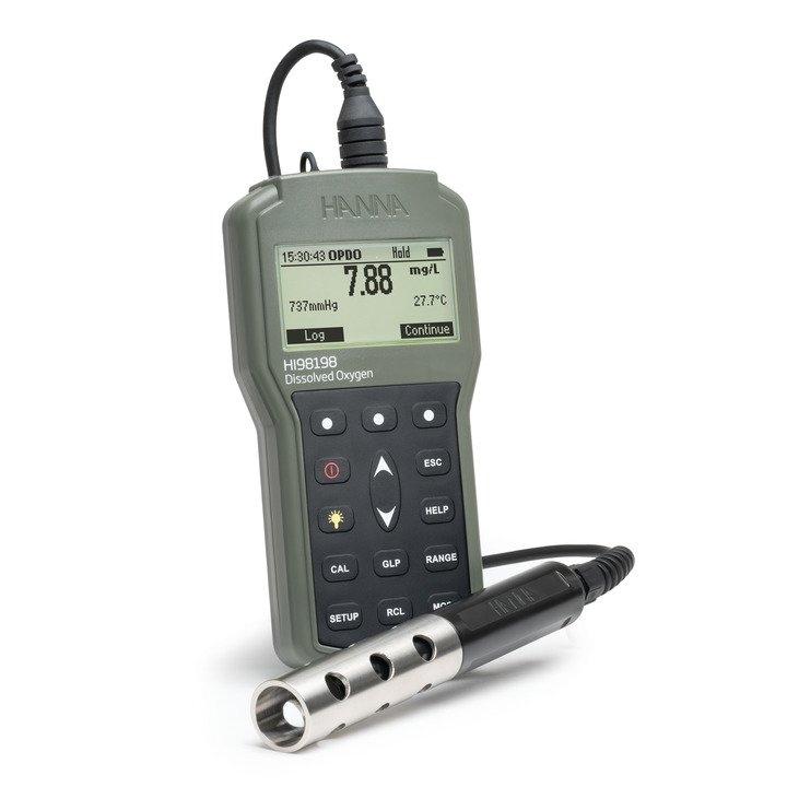 [:lt]OpDO Optinis deguonies matiuoklis[:en]opdo Waterproof Optical dissolved oxygen meter - HI98198[:]