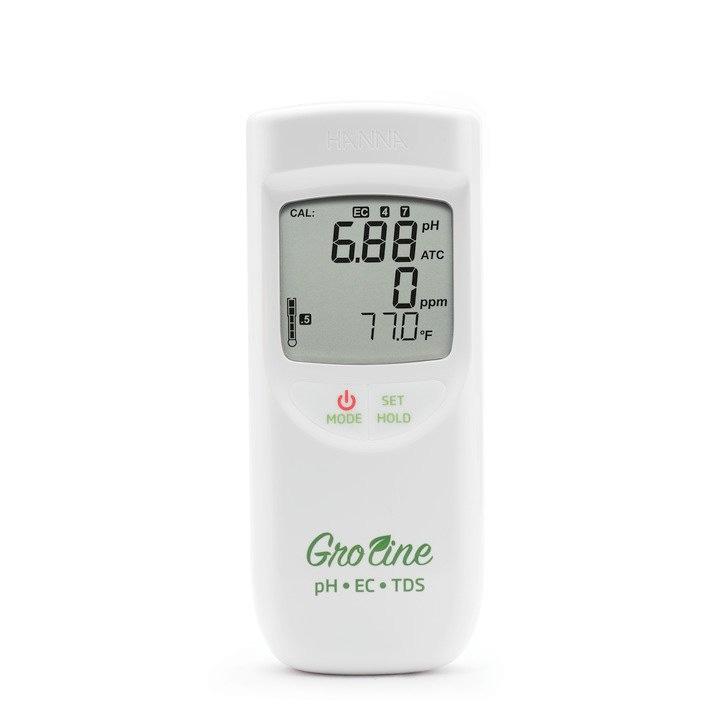 HI9814 GroLine Waterproof Portable pH/EC/TDS Meter