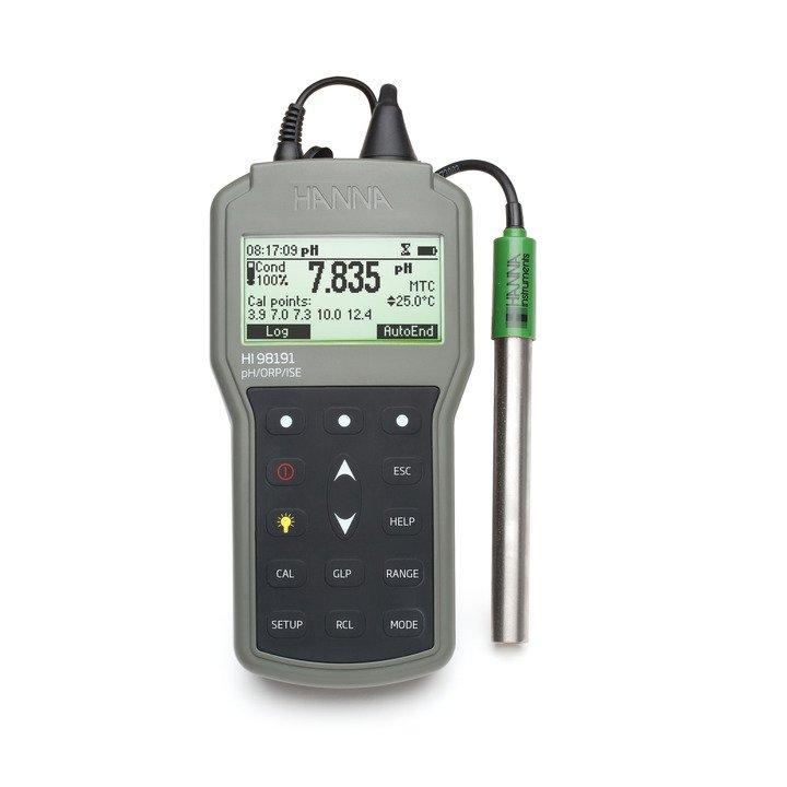[:lt]Profesionalus nešiojamas pH/ORP/ISE matuoklis- HI98191[:en]Professional Waterproof Portable pH/ORP/ISE Meter - HI98191[:]