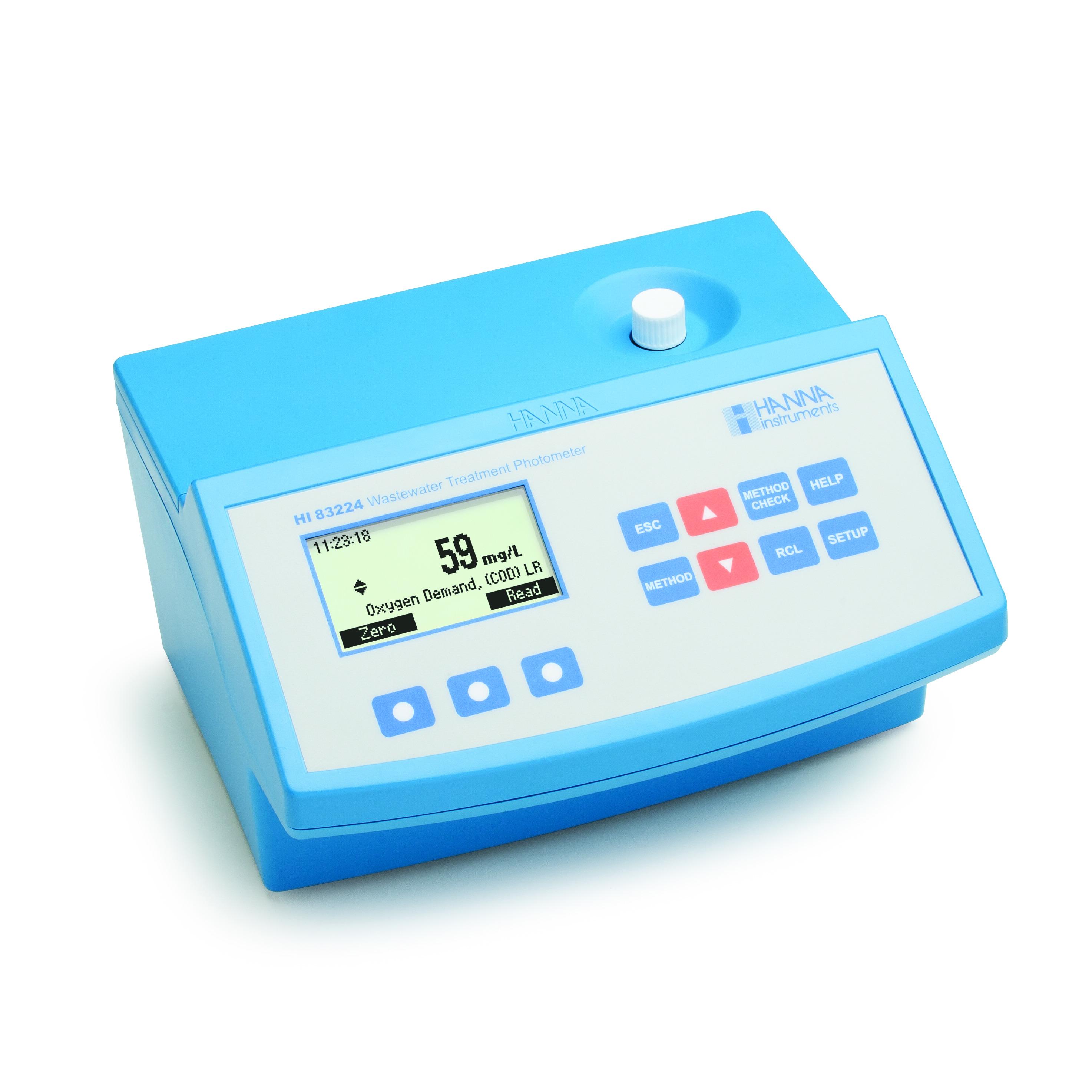 [:lt]COD Fotometras su brūkšninių kodų atpažinimo sistema nuotekų analizei - HI83224[:en]COD Photometer with Barcode Recognition for Wastewater Analysis - HI83224[:]